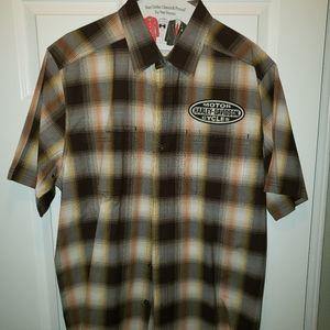 Harley davidson button shirt